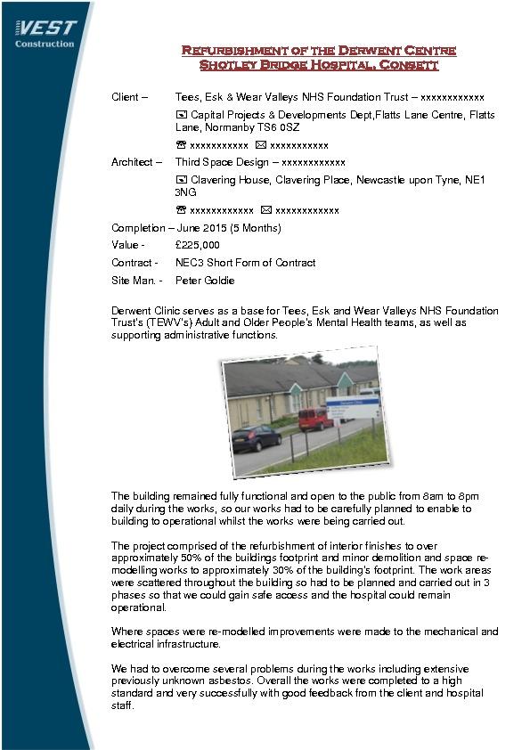 Healthcare Vest Construction Liveco Ltd